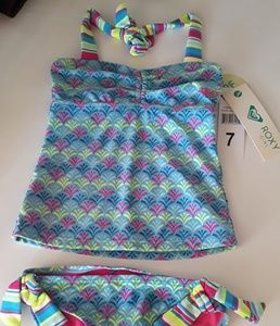 Roxy girls tankini set  nwt